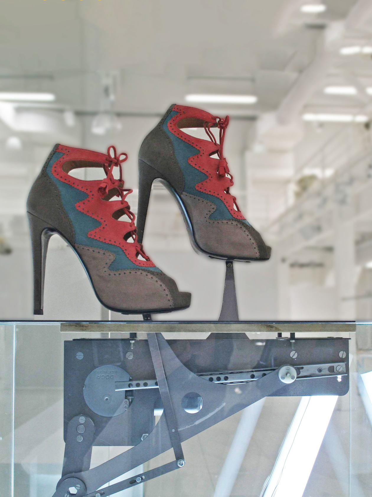 kinetic sculpture walking shoes for Hermès